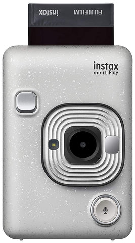 Fujifilm Instax Mini LiPlay Hybrid Instant Camera (Stone White) - Whatnot India