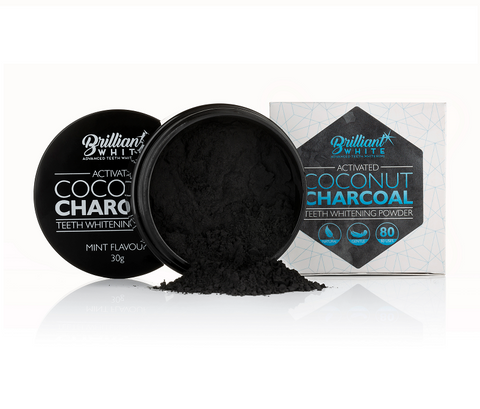 Teeth Whitening Kit + Activated Coconut Charcoal