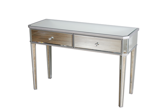2 Drawers Mirrored Makeup Table
