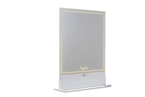 Frameless Acrylic Hollywood Makeup Mirror with White and Warm Lights (White Colour)