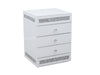 NEW ARRIVAL! 2x 3 Drawers White Mirrored Bedside Table with Crushed Diamond Front