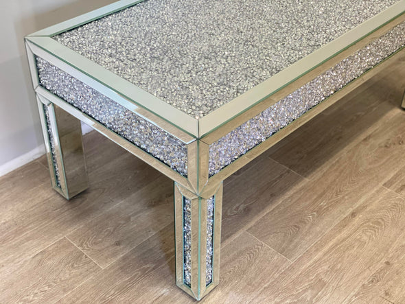 NEW ARRIVAL! Crushed Diamond Coffee Table