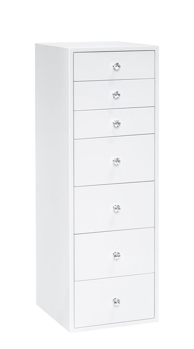 7 Drawers Makeup Storage Tallboy - White
