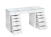 PRE-ORDER! 13 Drawers Clear Glass Top Beauty Station + Hollywood Makeup Mirror with Bluetooth Speaker