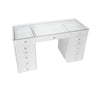 MILA ROSE Beauty Station - Clear Glass Top Table Only