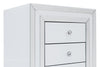 2x 3 Drawers Mirrored Bedside Table - WHITE