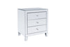 2x 3 Drawers Mirrored Bedside Table (with legs)