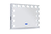 XL Diamond Style Hollywood Makeup Mirror with Sensor Dimmer + Bluetooth Speaker