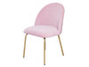 NEW ARRIVAL! IVY Velvet Makeup Chair - Light pink