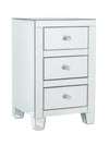 2x 3 Drawers Mirrored Bedside Tables (Small)