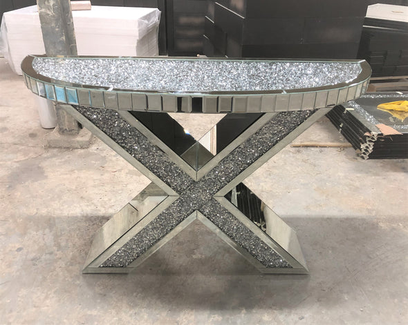 PRE-ORDER! XENO Console / Hallway Table with Crushed Diamond