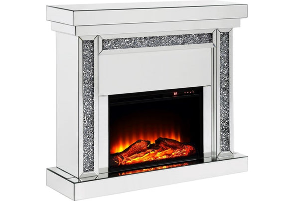 NEW ARRIVAL! Mirrored Console Fireplace