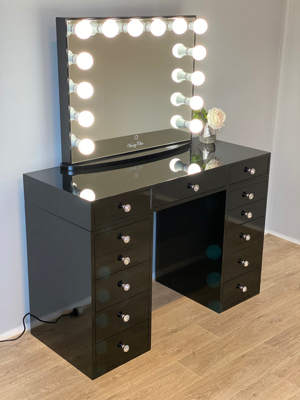 Mini Sunday Rose Beauty Station + Large YSABEL Makeup Mirror with Sensor Dimmer