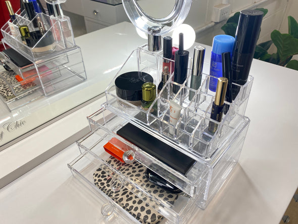 Acrylic Makeup Organiser with Mirror
