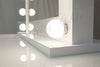 Large White Hollywood Makeup Mirror with LED Lights