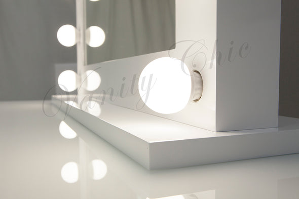 ANNABEL White Hollywood Makeup Mirror with LED Lights