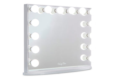 Large Frameless Hollywood Makeup Mirror with LED Lights (White)