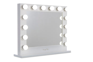 PRE-ORDER! Large White Hollywood Makeup Mirror with LED Lights