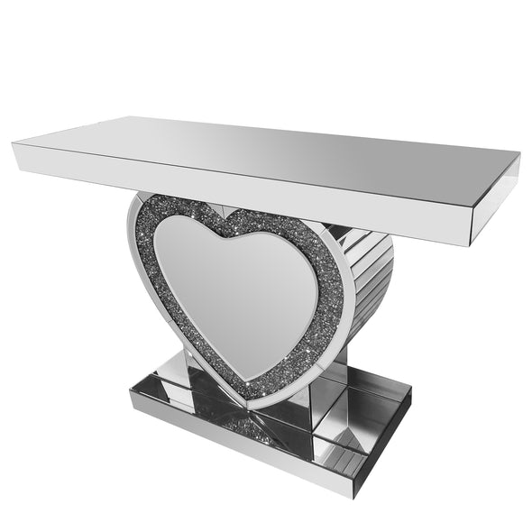 PRE-ORDER! LOVE Console / Hallway Table with Crushed Diamond