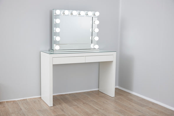 VENUS Hollywood Makeup Mirror with Sensor Touch Dimmer + 2 Drawers Vera Vanity Table
