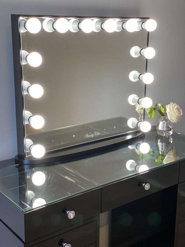 Mini MILA ROSE Beauty Station + Large YSABEL Makeup Mirror with LED Lights