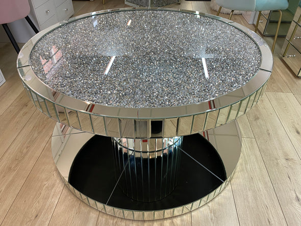 RORI Round Coffee Table with Crushed Diamonds