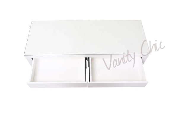 2 Drawers Vera Table - White
