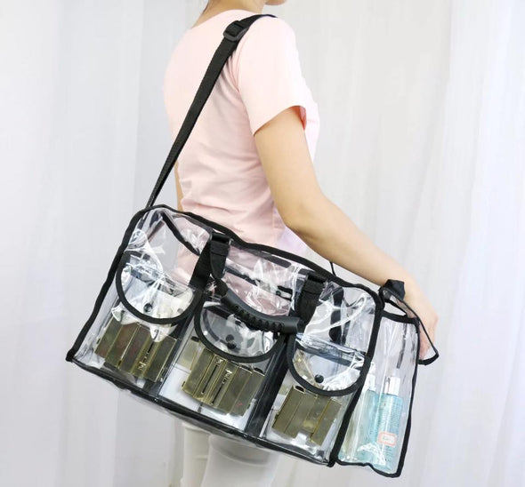 Large Clear PVC Cosmetic Makeup Carry Bag / Travelling Handbag