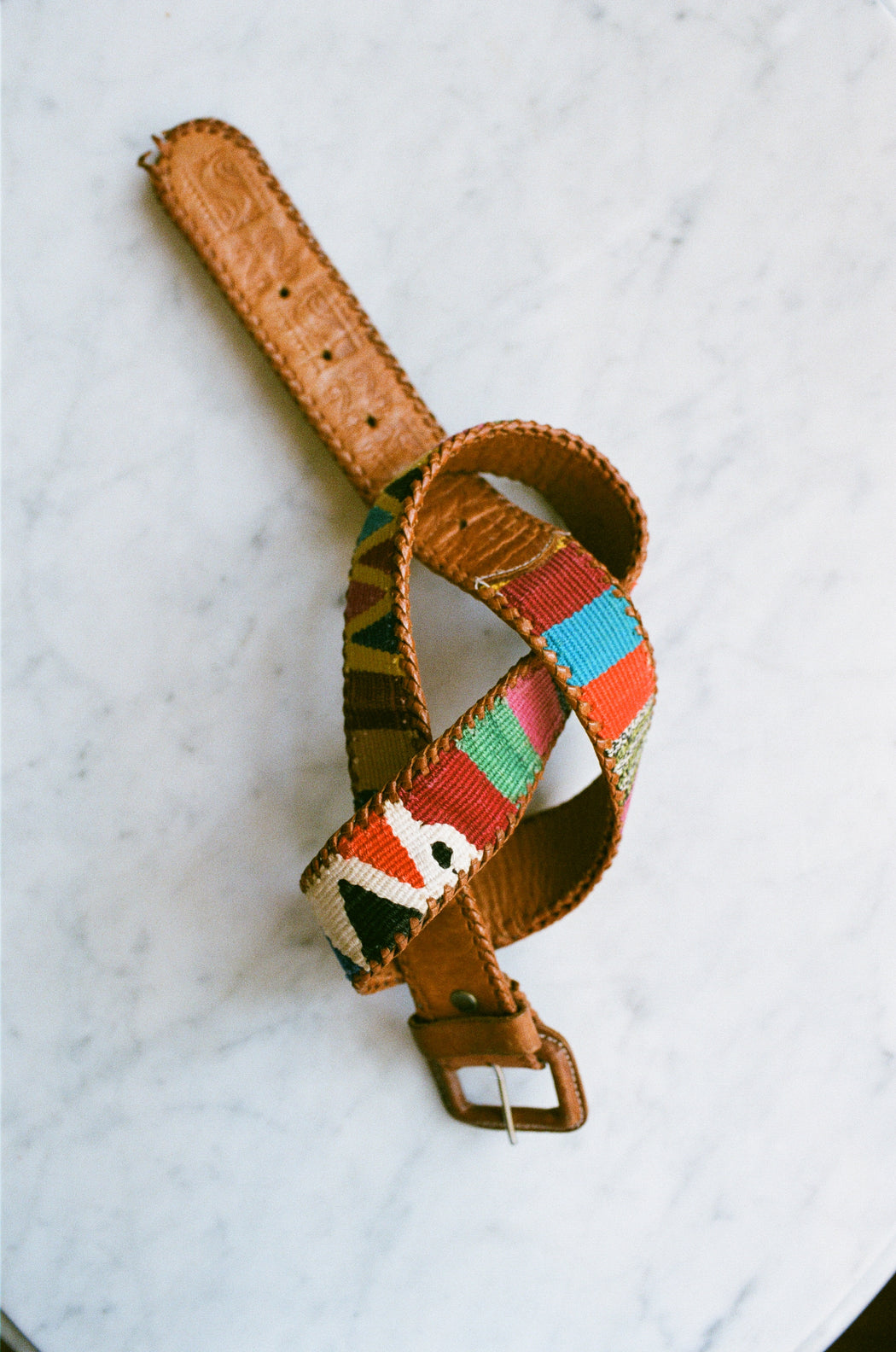 Vintage Woven Leather Belt I