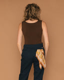 Vintage Brown Silk/Cotton Tank (M)