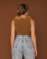 Vintage Camel Feather Tank (S/M)