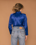 Vintage Royal Blue Blouse (M)