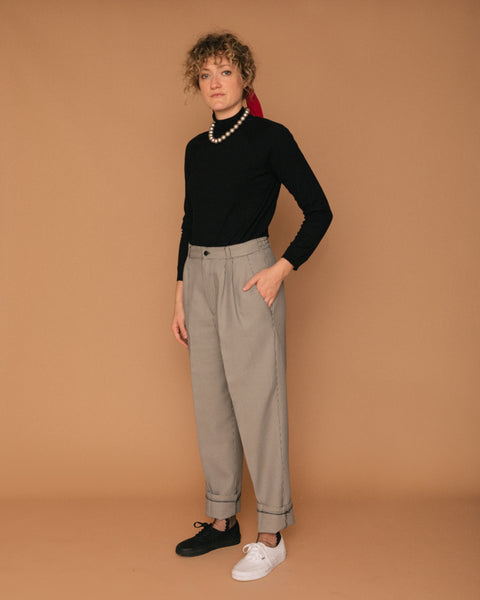 Vintage Black and White Houndstooth Pant (6/8)