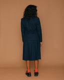 Vintage Pendleton Navy Wool Skirt Set (2/4)