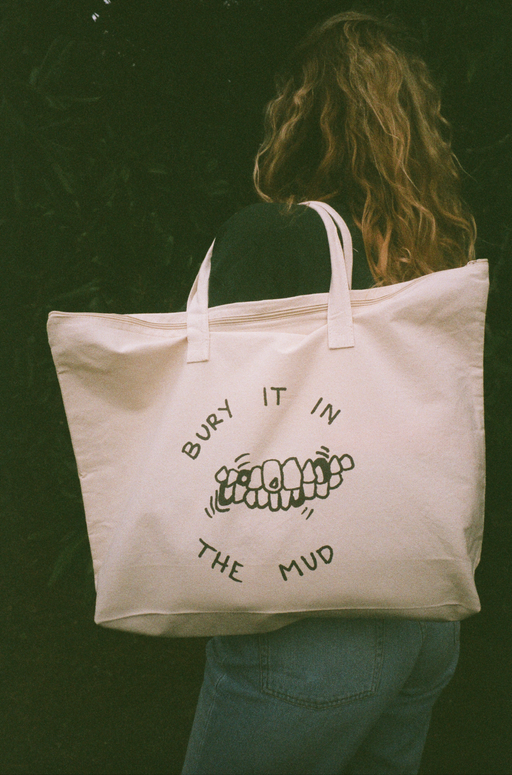 Canvas Bury It In The Mud tote bag
