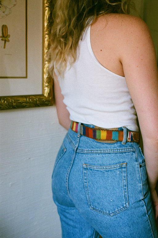 Vintage Woven Leather Belt III