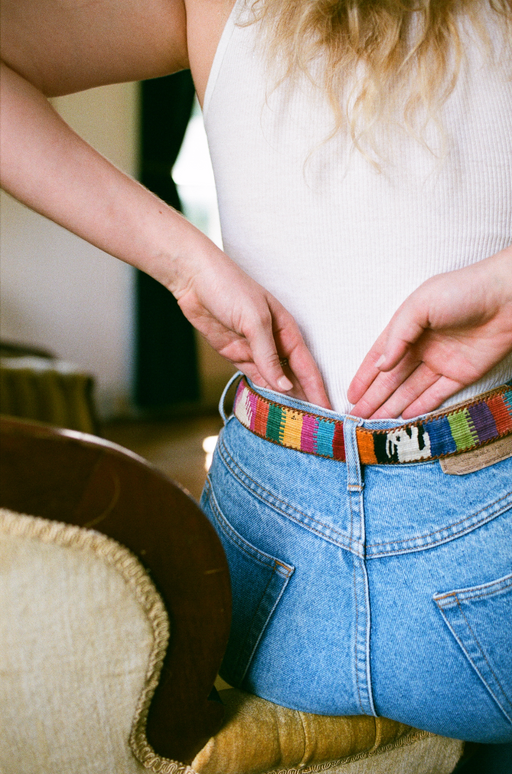 Vintage Woven Leather Belt IV