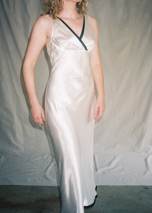 Vintage Ivory Silk Nightgown (S/M)