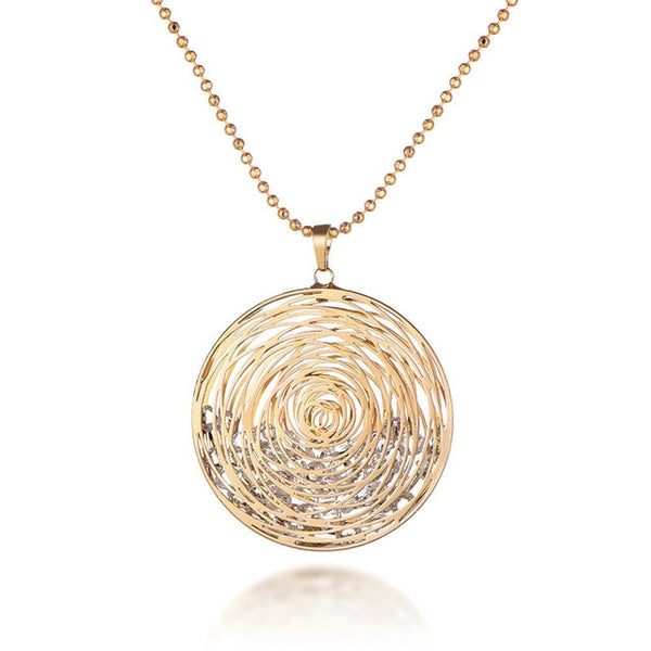 Hollow Flower Pendant Necklace -  [product_type] - ShaadiMagic