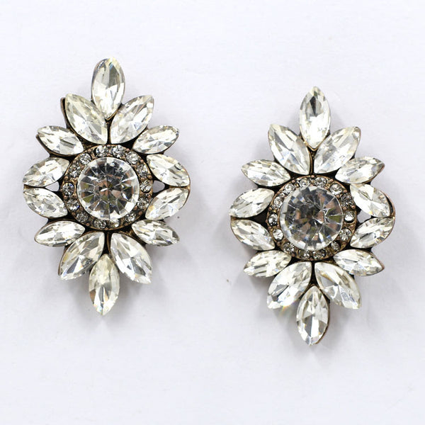 Full Crystal Fashion Jewelry Earrings -  [product_type] - ShaadiMagic