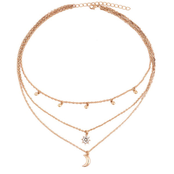 Multi Layer Beads Choker Necklaces -  [product_type] - ShaadiMagic