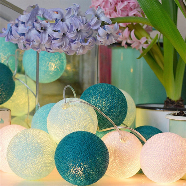 Cotton Ball String LED Light