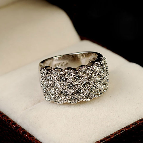 Crystal Gold and Silver Wedding Ring -  [product_type] - ShaadiMagic