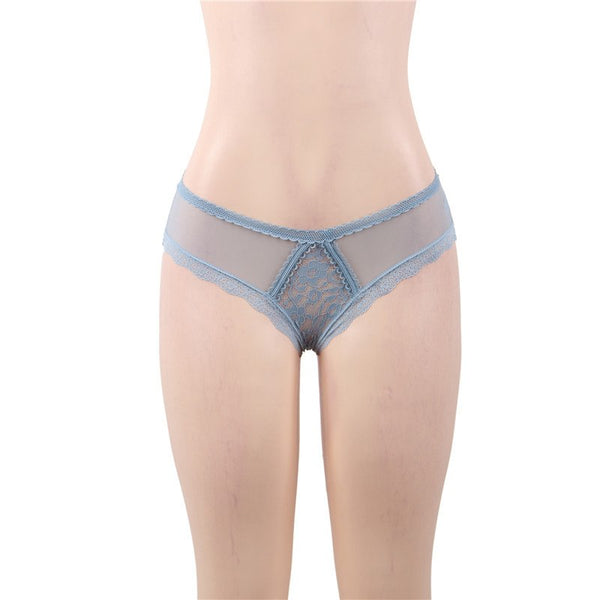 Lace See Through Floral Brazilian Panties -  [product_type] - ShaadiMagic