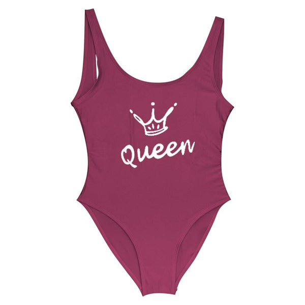 Queen Crown Letter One-piece Swimsuit -  200000598 - ShaadiMagic