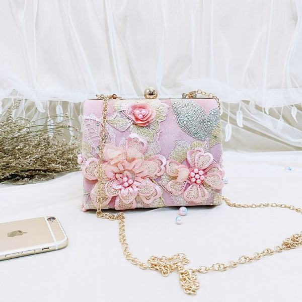 Luxurious Floral Party Evening Purse -  100002856 - ShaadiMagic