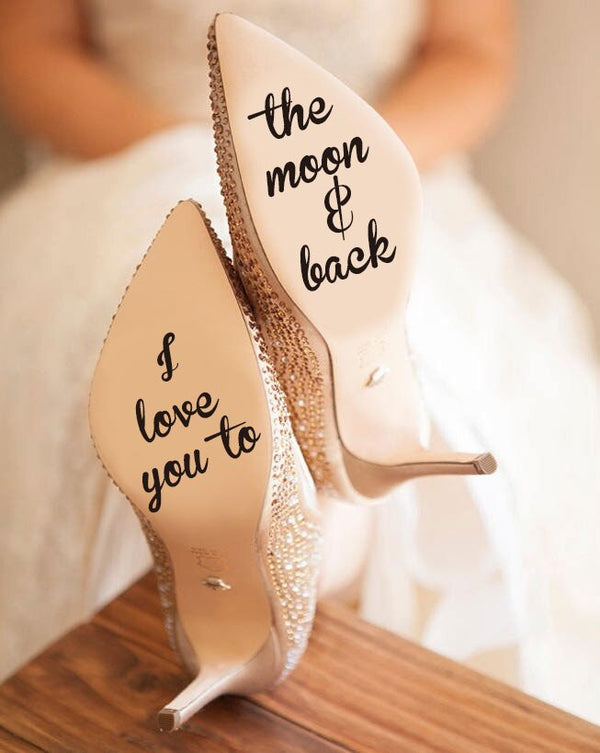 """I Love You To The Moon And Back"" Vinyl Sticker -  200001461 - ShaadiMagic"