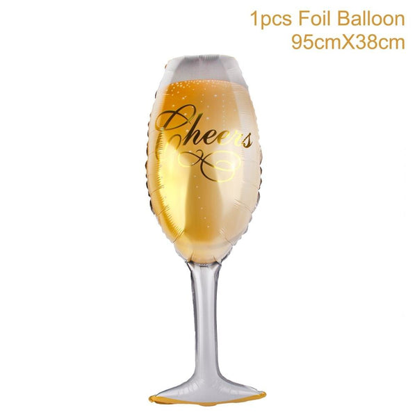 Champagne Bottle Beer Balloons Foil -  200220143 - ShaadiMagic