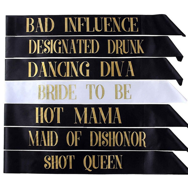 "Party Sashes ""Shot Queen & Hot Mama"" -  200220143 - ShaadiMagic"