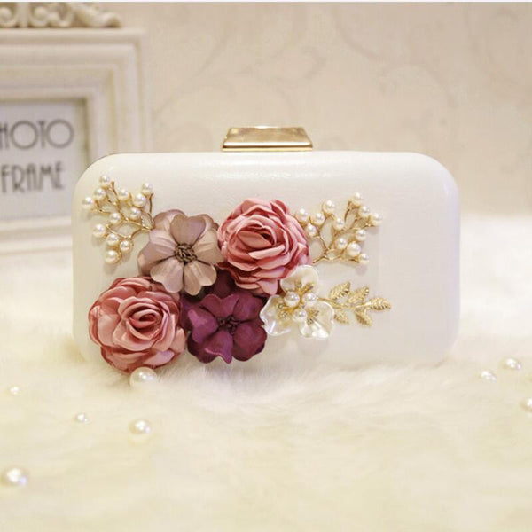 Handmade Flower Fashion Party Clutch -  100002856 - ShaadiMagic